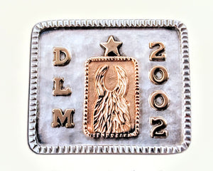 ALSA National Show - Llama National Champion Money Clip Sterling Silver with 14K Yellow Gold Accents Initials and a Date