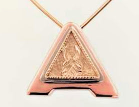 Custom ALSA Award Champion Charm Pendant - Elite Grand Champion - 14K Yellow, Rose and White Gold