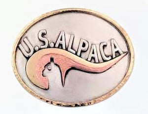 Custom Belt Buckle with Farm or Ranch Logo - Sterling Silver with 14K Yellow and Rose Gold Accents