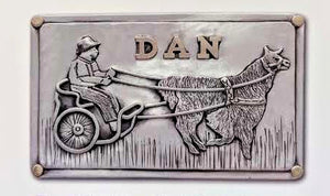 Custom Belt Buckle with Farm or Ranch Logo - Sterling Silver