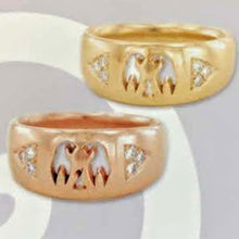 Load image into Gallery viewer, Custom Rings with Farm or Ranch Logos - 14K Yelow and Rose Gold