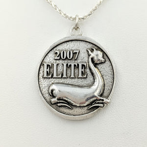 Custom Pendant with Farm or Ranch Logo - Sterling Silver