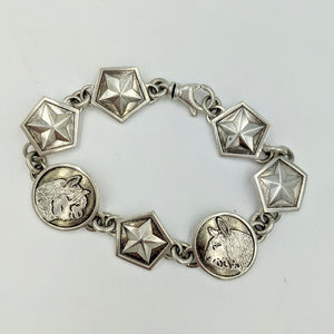 Custom Bracelet with Farm or Ranch Logo - Sterling Silver