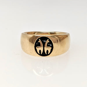 Custom Ring with Farm or Ranch Logo - 14K Yellow Gold