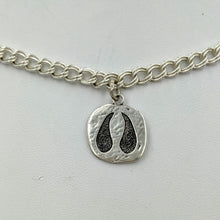 Load image into Gallery viewer, Alpaca or Llama Footprint Charm -Sterling Silver
