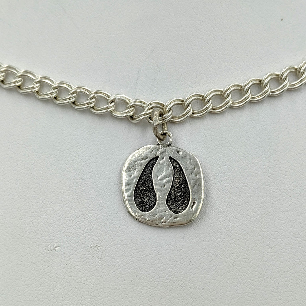 Alpaca or Llama Footprint Charm -Sterling Silver