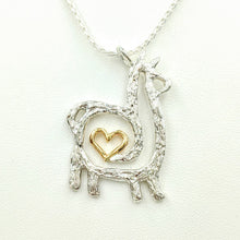 Load image into Gallery viewer, Alpaca or Llama Compact Spiral or Open Heart Pendant