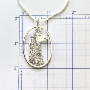 Llama Head Open View Pendant or Pin