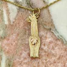 Load image into Gallery viewer, Sterling Silver Swoosh Tush Alpaca Suri Pendant with 14K Gold or Sterling Silver Tail