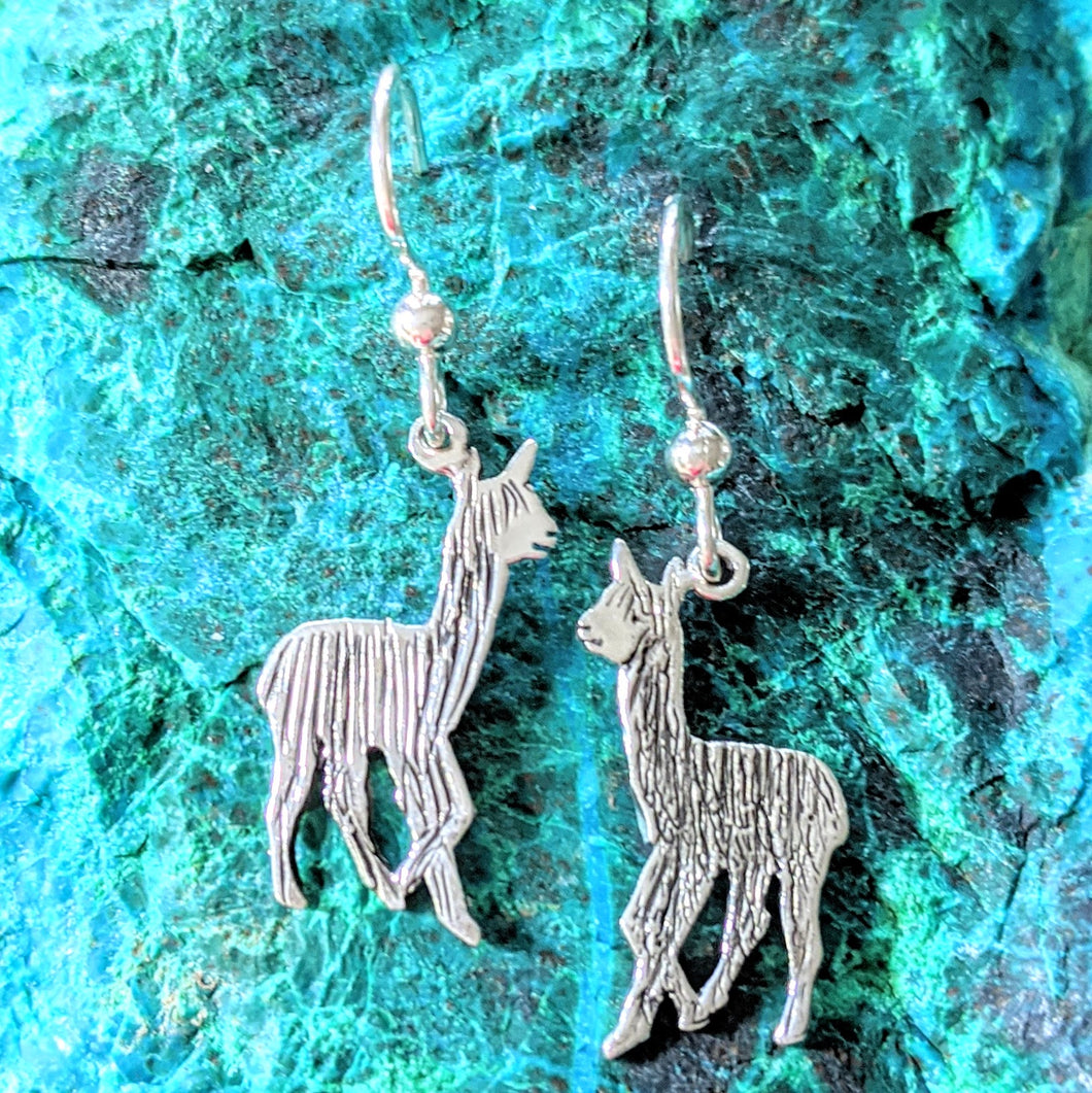 Alpaca or LLama Baby Cria Silhouette Earrings
