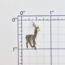 Load image into Gallery viewer, Alpaca or Llama Baby Cria Silhouette Petite Pendant