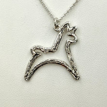 Load image into Gallery viewer, Alpaca or Llama Leaping Pendant or Pin