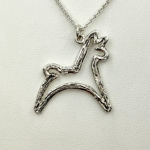 Alpaca or Llama Leaping Pendant or Pin