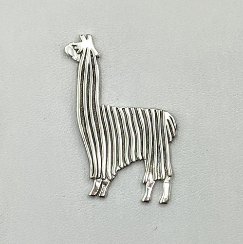 Alpaca or Llama Standing Showring Pin or Pendant