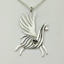 Load image into Gallery viewer, Alpaca or Llama  Winged Soaring Spirit with Heart Pendant