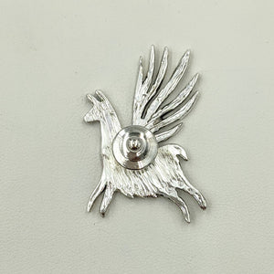Alpaca or Llama  Winged Soaring Spirit Pin