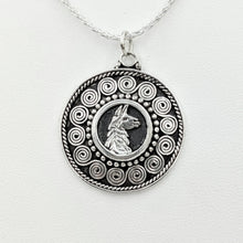 Load image into Gallery viewer, Llama Bali Style Coin Pendant - Sterling Silver
