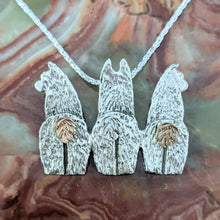 "Load image into Gallery viewer, Alpaca Huacaya ""Get a Sire"" Pendant or Pin"