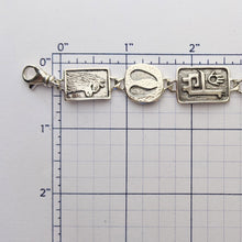 Load image into Gallery viewer, Alpaca or Llama Charm Link Bracelet - Sterling Silver