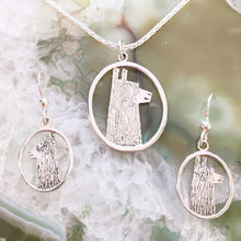 Load image into Gallery viewer, Alpaca or Llama Ensemble Sets - Pendants and Matching Earrings