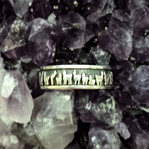 Llama Herd Line Eternity Band