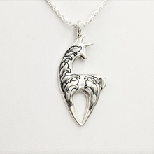 Load image into Gallery viewer,  Hand Engraved Spirit Crescent Pendant - Sterling Silver