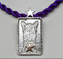 Load image into Gallery viewer,  ALSA National Show Champion Charm Pendant - Alpaca National Champion Sterling Silver with a 14K Rose Gold Star Accent