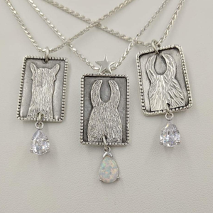 3 ALSA National Show Champion Charm Pendants - Alpaca Reserve National  Champion - Sterling Silver with CZ teardrop dangle, Llama National Champion Sterling Silver with imitation teardrop Opal dangle and Llama Reserve National Champion with CZ teardrop dangle