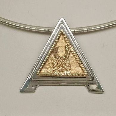 Custom ALSA Award Champion Charm Pendant - Elite Grand Champion Sterling Silver with 14K Yellow Gold Accent