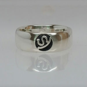 Custom Ring with Farm or Ranch Logo - Sterling Silver