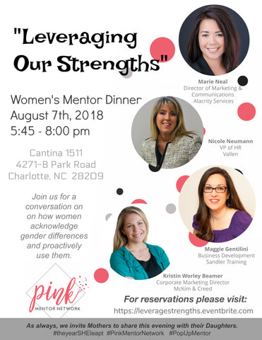 Mentor Dinner: Leveraging Our Strengths – Pop-Up Mentor