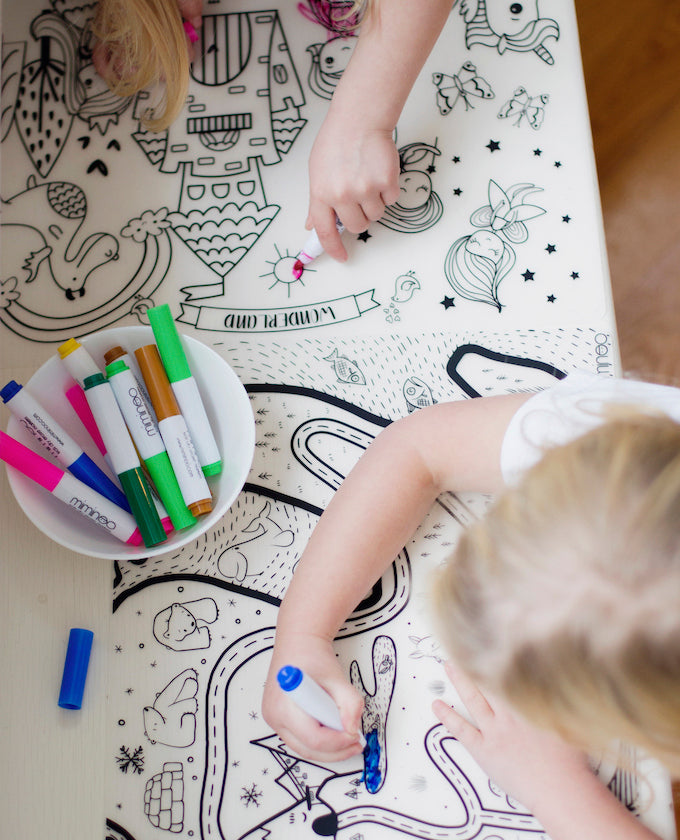 COLORING TABLEMATS