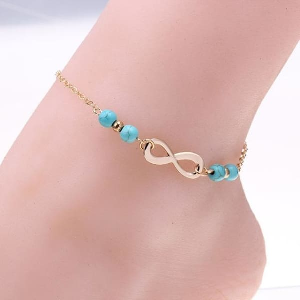 Jewelry Connection Shop Silver Color Bohemia Bead Shell Ankle