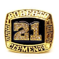 Buy American Roberto Clemente Hall of Fame Custom Made Replica Ring with Display Box
