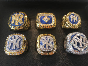 Custom Made to Order NY Yankees SIX (6) World Series Replica Ring Set