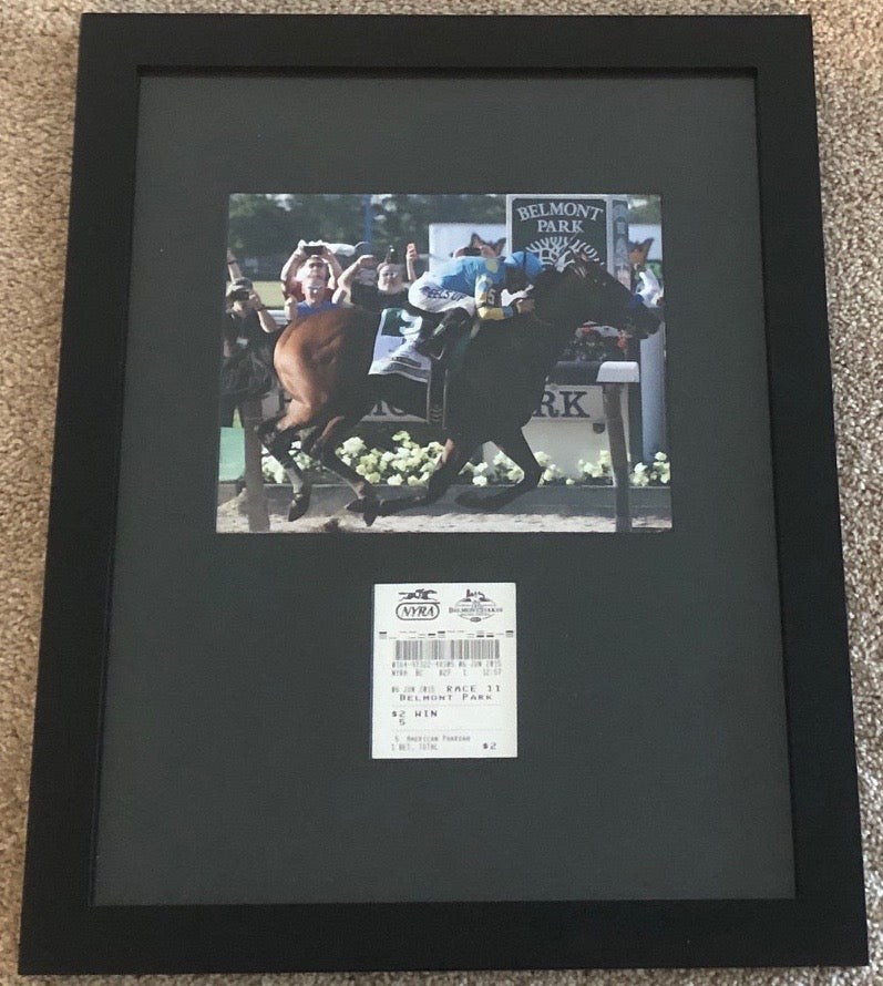 AMERICAN PHAROAH TRIPLE CROWN BELMONT STAKES CUSTOM MADE