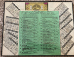 1974 KENTUCKY DERBY  100TH YEAR ANNIVERSARY / FULL PROGRAM / ADMISSION TICKET / TICKETS ON ALL ENTRIES THE RACE IN A PROFESSIONAL FRAME