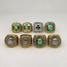 BOSTON CELTICS EIGHT RING NBA CHAMPIONSHIP RING SET