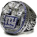 NEW YORK GIANTS FOUR TIME SUPERBOWL RING