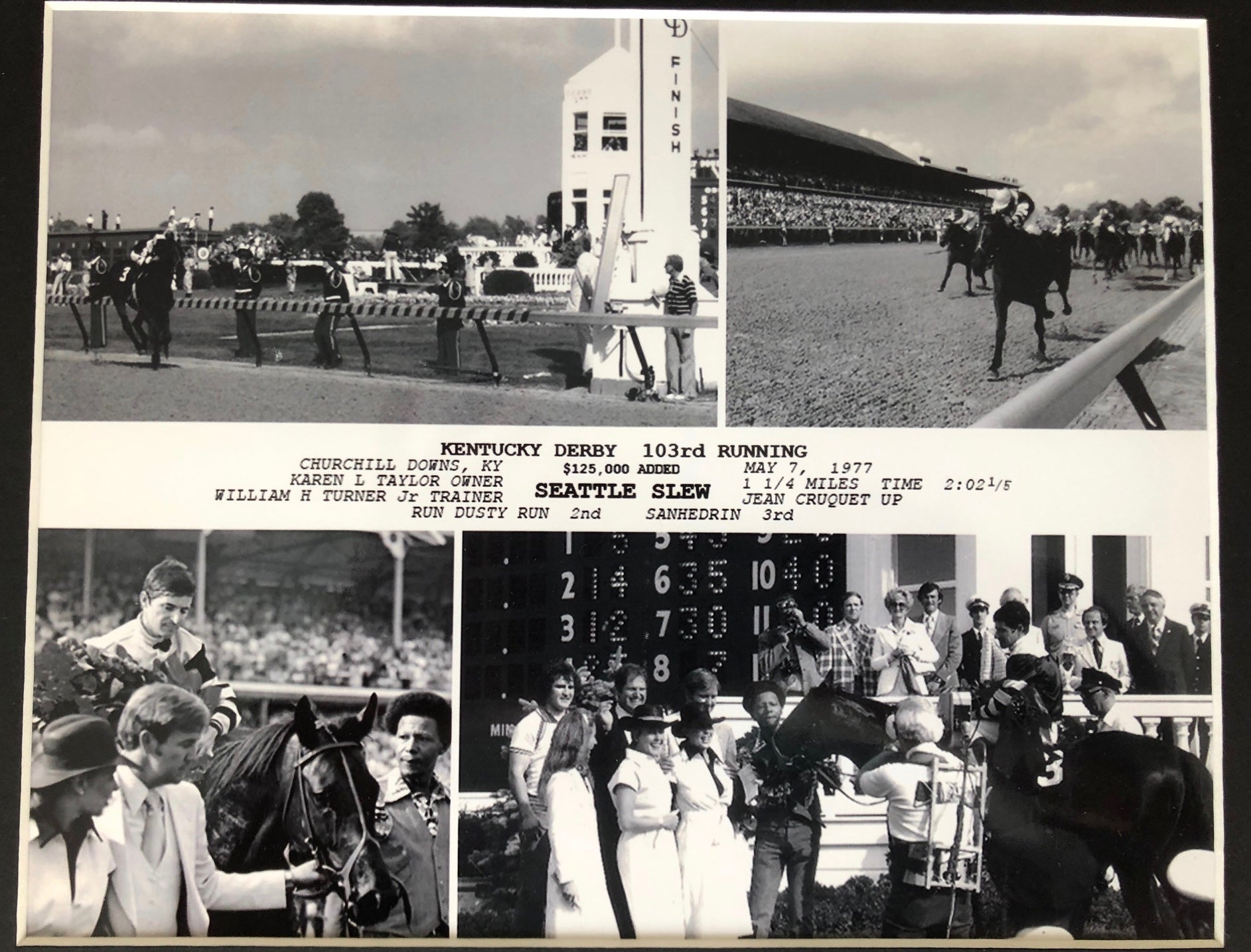 SEATTLE SLEW 1977 KENTUCKY DERBY ONE OF A KIND MEMORIBLILIA