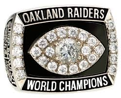 OAKLAND RAIDERS FIRST SUPERBOWL RING