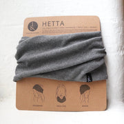 grey headband neckcoil beanie