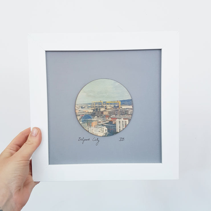 Belfast City wooden print