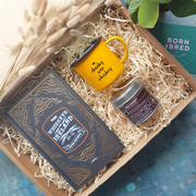 yellow whiskey gift box