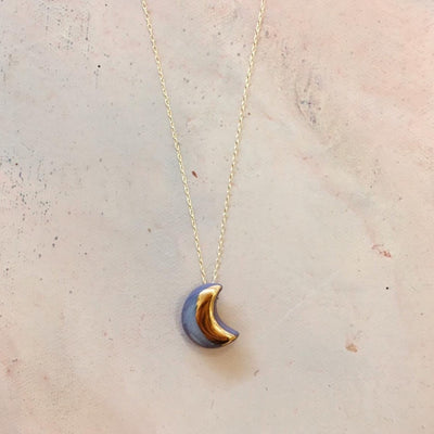 purple moon necklace
