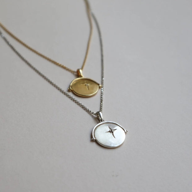 spinner necklace gold silver