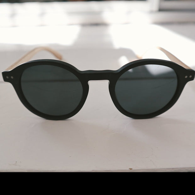 Harriet black bamboo sunnies