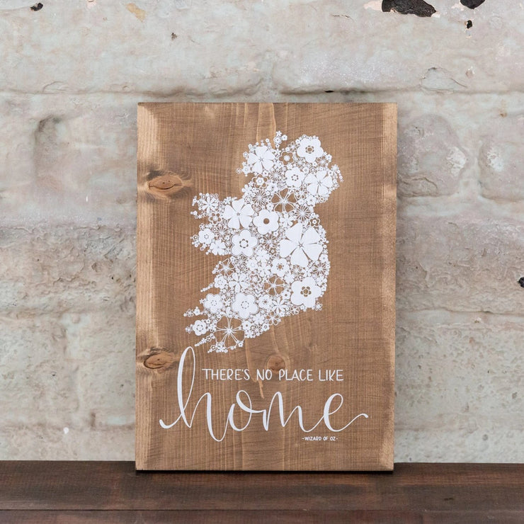 THERE'S NO PLACE LIKE HOME - WOOD PRINT