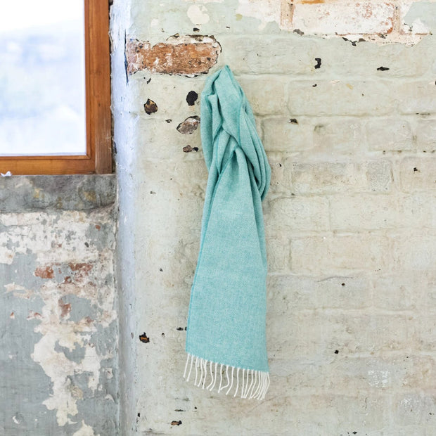 spearmint lambswool scarf