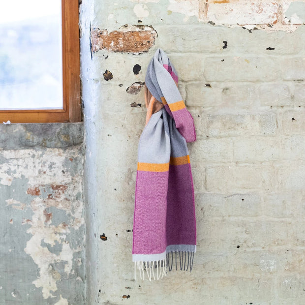 beetroot lambswool scarf
